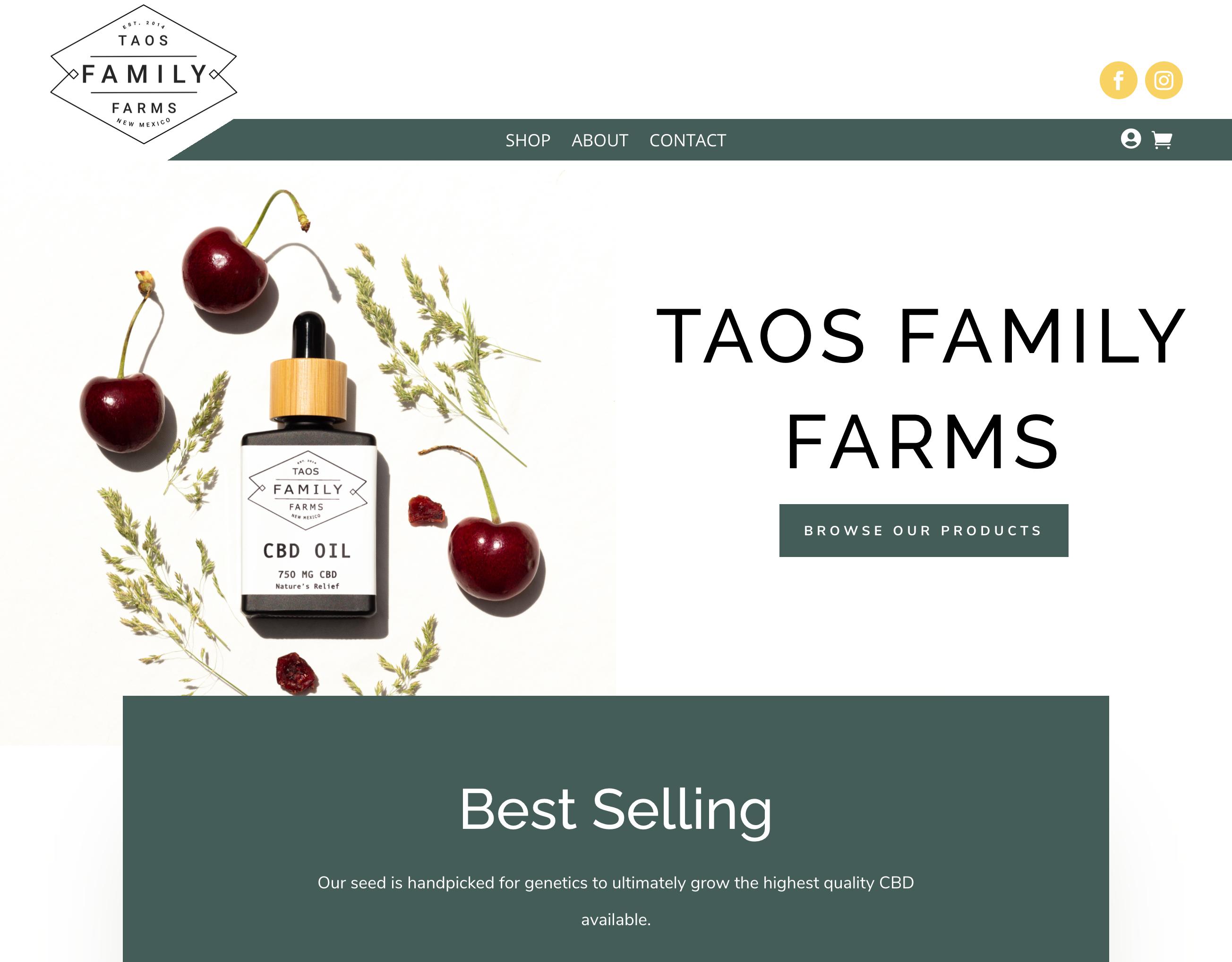 taosfamilyfarmcbd- New Mexico-cbd-ecommerce